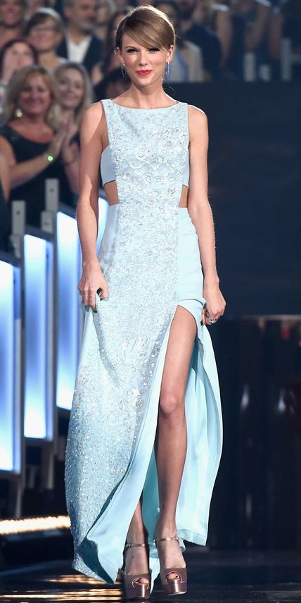 Taylor Swift's Red Carpet Style - In Reem Acra, 2015 - from InStyle.com