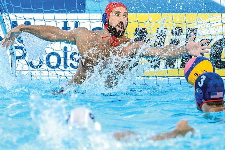 Olympic water polo player Merrill Moses has made a big splash