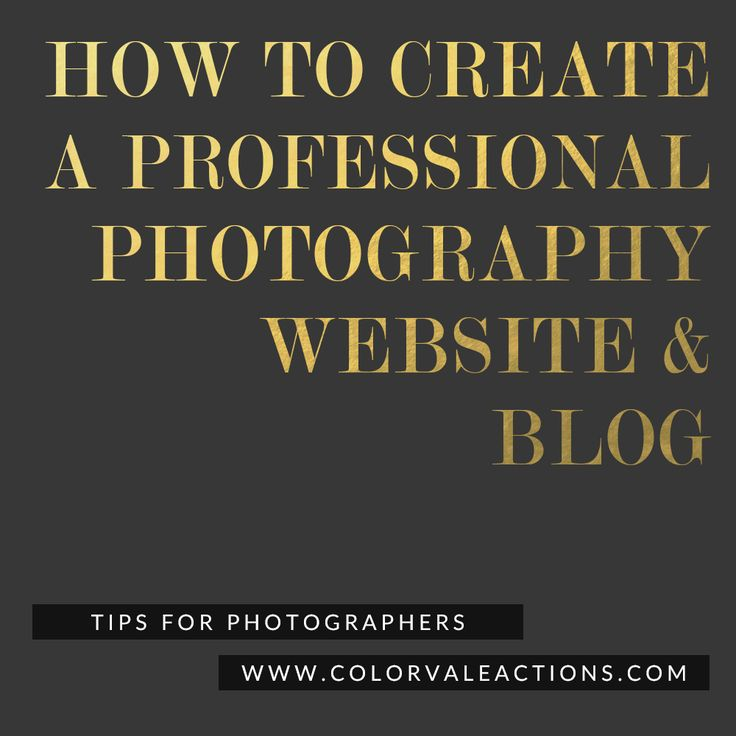 How To Create A Professional Photography Website and Blog - Setting up a new blog or website can be very intimidating but with a few easy steps you will be ready to showcase your work online. http://www.colorvaleactions.com/blog/how-to-create-a-professional-photography-website-and-blog/