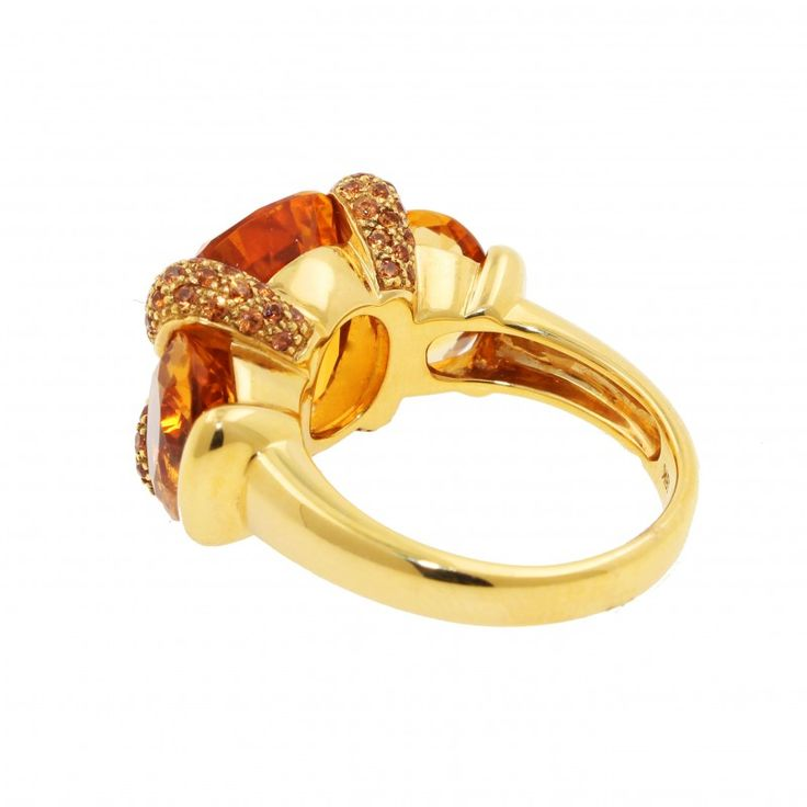 Anillo oro Amarillo18K con Citrino y Topacio     Anillos de mujer en Joyería Marga Mira: anillos originales, finos, anillos grandes, anillos con perlas, abiertos, anchos.     ¡Porque eres única y diferente!    www.joyeriamargamira.com    joyeria en alicante centro