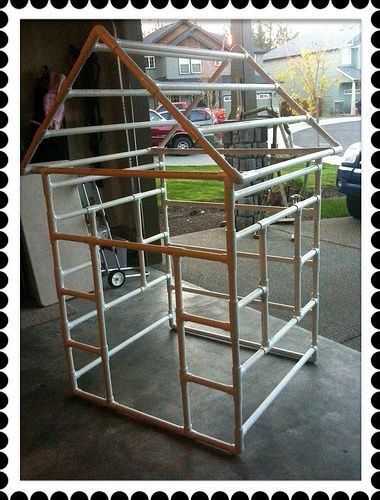 25 best ideas about pvc playhouse on pinterest pvc pipe for Pvc playhouse kit