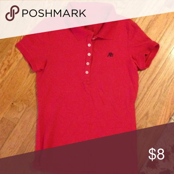 Red Polo Aeropostale Red Medium Aeropostale polo. Excellent used condition, no fading. Aeropostale Tops Button Down Shirts