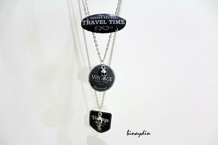 diy , necklaces , skull , clay