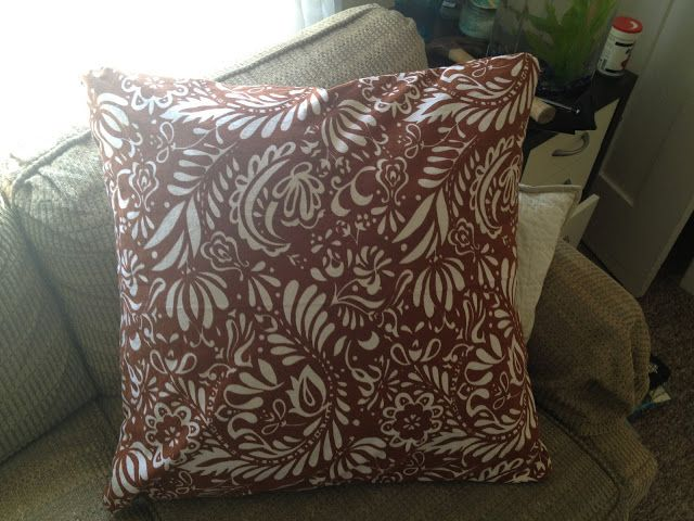 PairsandPours: DIY throw pillow cover Sew what Pinterest Pillow covers, DIY and crafts and ...
