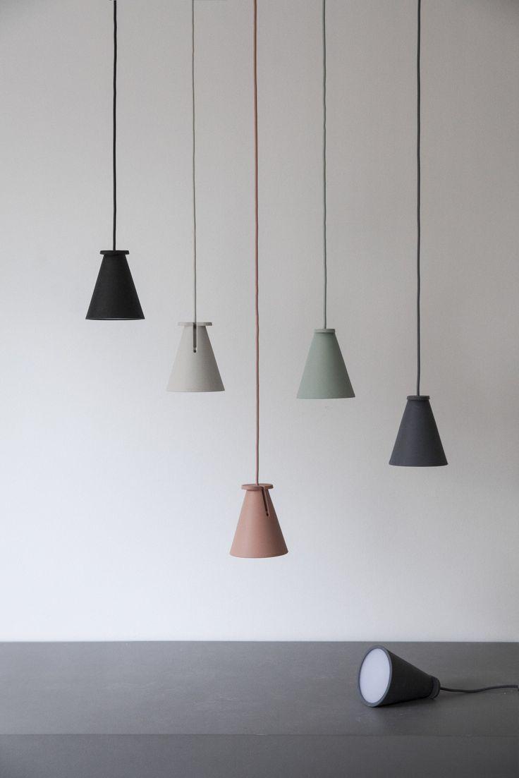 Silicone pendant lamp / floor lamp BOLLARD by @menuworld | design Shane Schneck