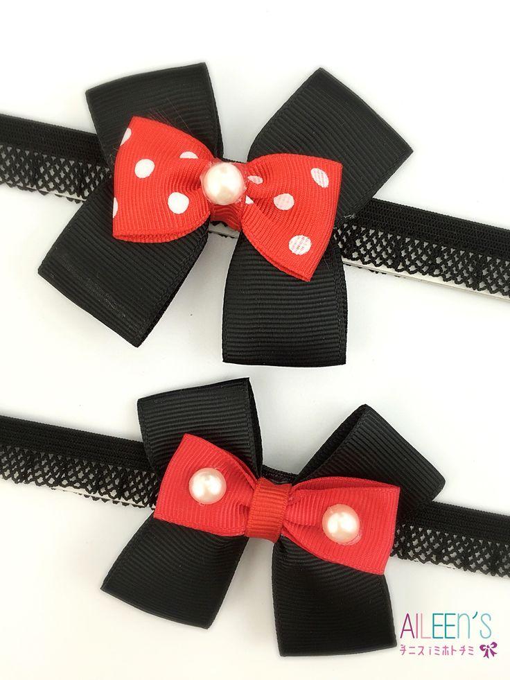 Minnie & Mickey baby headband