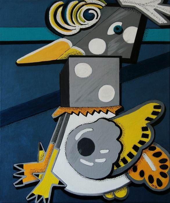 Peinture de al prochaine exposition à la Galerie Polysemie.
