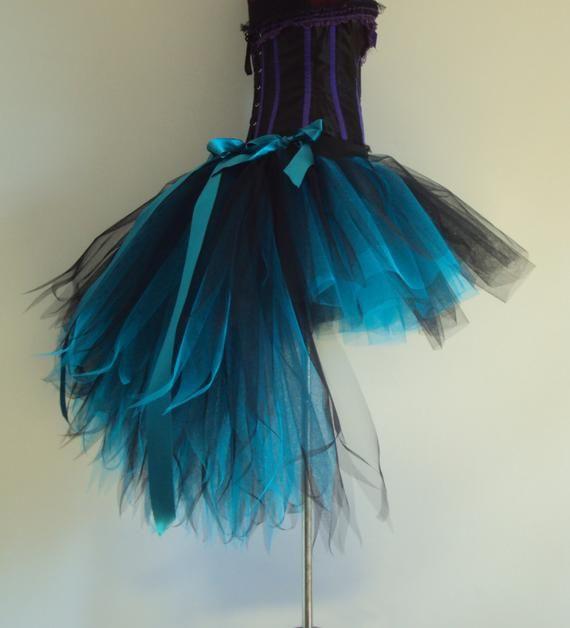 NEW Long BIG Peacock Green Blue Burlesque Dancer Drag Queen Tutu Skirt Feather