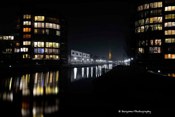 Steenwijkerdiep bij nacht door bergsma-photography