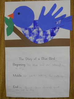 Mrs. T's First Grade Class: The Story of a Blue Bird