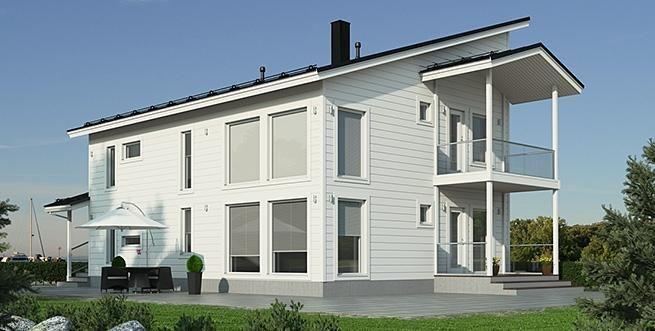 Katso Kuusamo Hirsitalot Kotikontu 189 ja yli tuhat muuta talomallia Meillä kotonan Talohausta.
