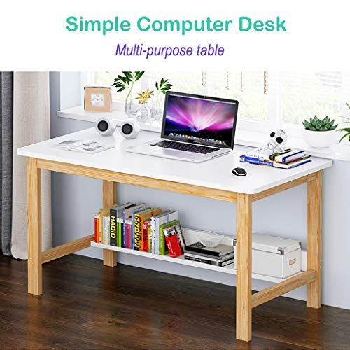 Solid Wood Table Home Office Desk Fulijie Computer Desk Writing