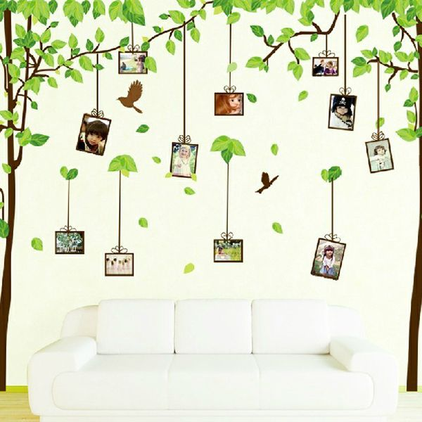 Fashion New Removable hallway living room dining room bedroom den Yi Lin TV wall decoration photo wall stickers free shipping