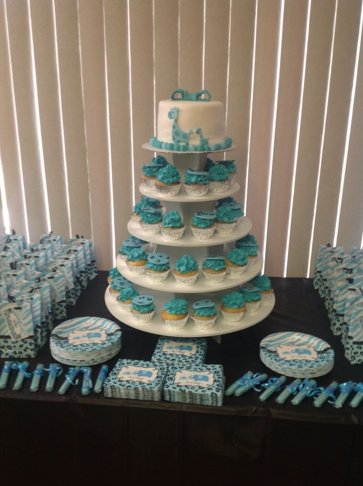 Lovely Decorations For Blue Safari Baby Shower From Party City.