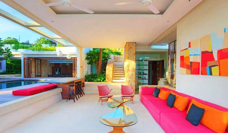 A Stunning Villa Features Expansive Open-air Lounge, Koh Samui, Thailand