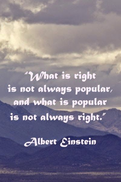 Allwaysbehappy: What is right is not ....