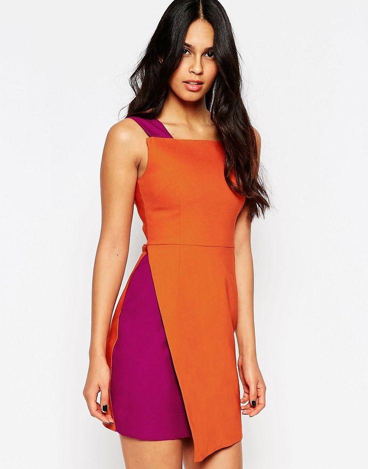 Vesper Bonita Tunic Colorblock Dress with Contrast Wrap