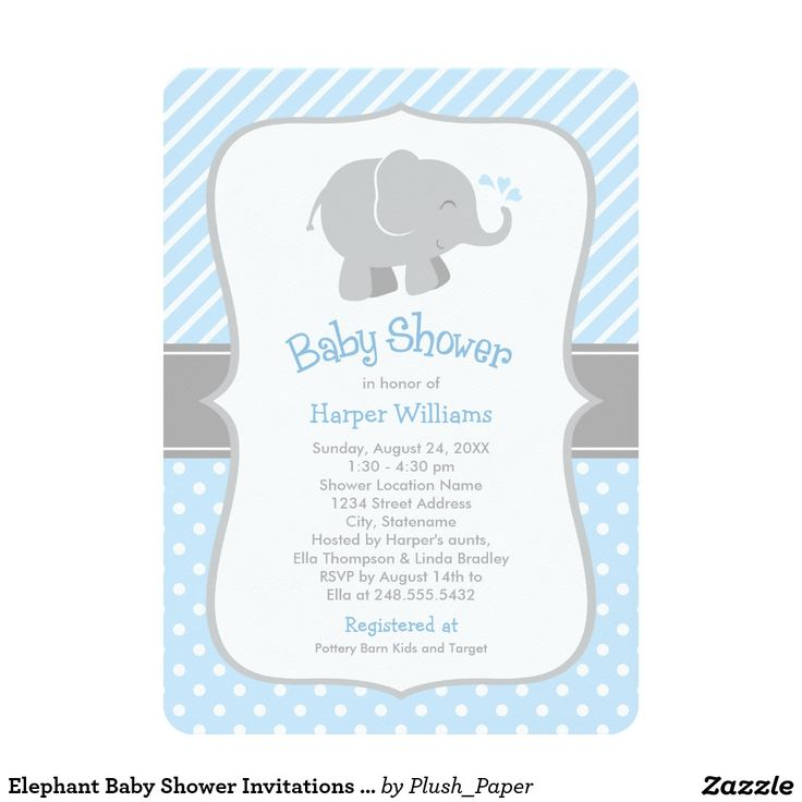 17 best images about baby showers on pinterest | elephant baby, Baby shower invitations
