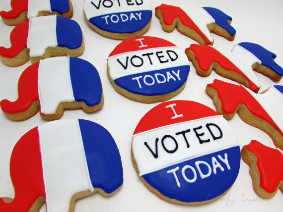 Election Cookies by ComfySweets on Etsy                                                                                                                                                      More