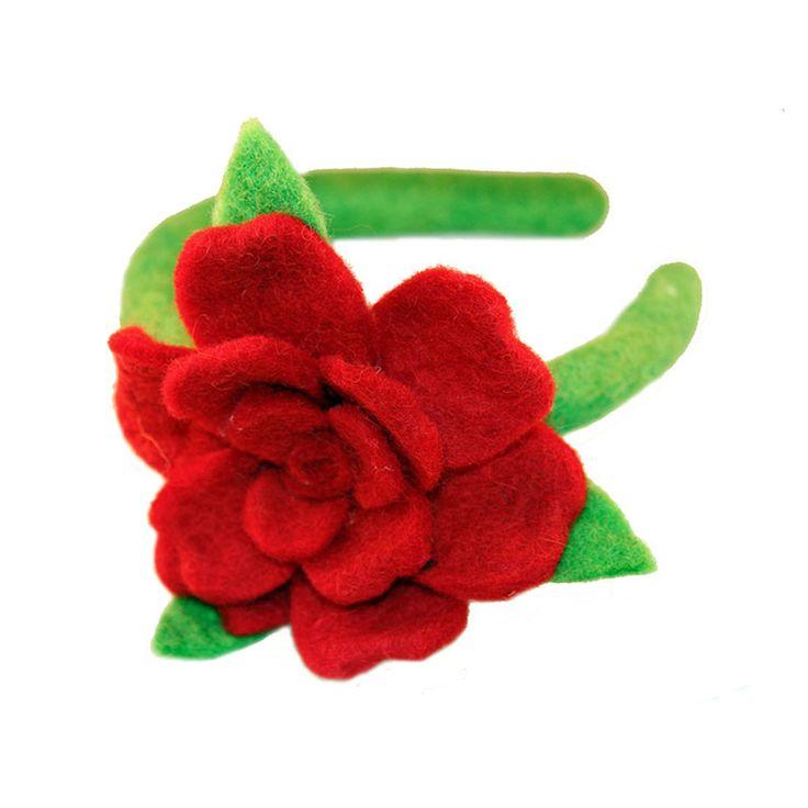 Rose Headband Red - Global Groove (C)