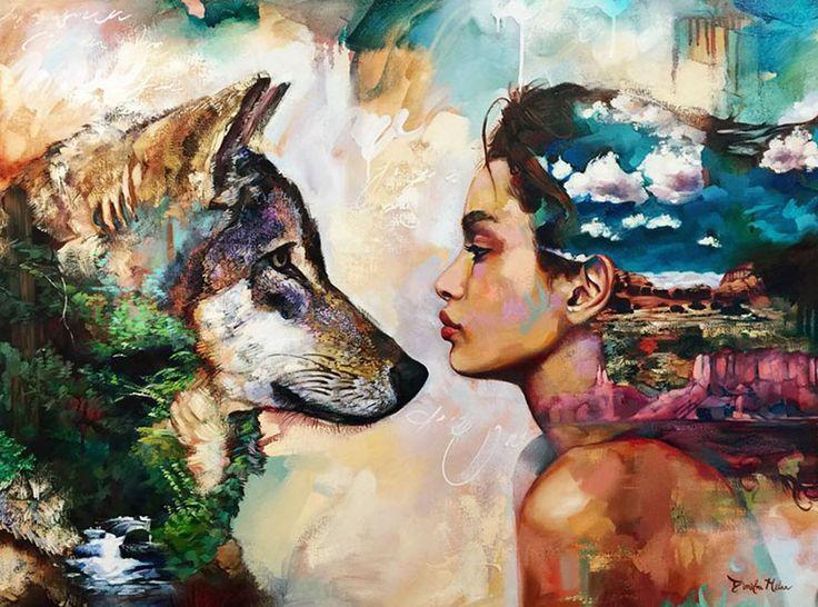 Artista de 16 años crea hermosas pinturas de mujeres que interactúan con la naturaleza | FuriaMag | Arts Magazine