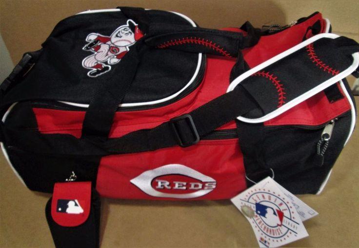 CINCINNATI REDS Baseball Genuine MLB Duffle Equipment Gym BAG w/ Mr Red Logo NEW #MLB #MrRed #CincinnatiReds