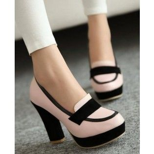 Women High Cone Heel Slip on Pointed Toe Shoes