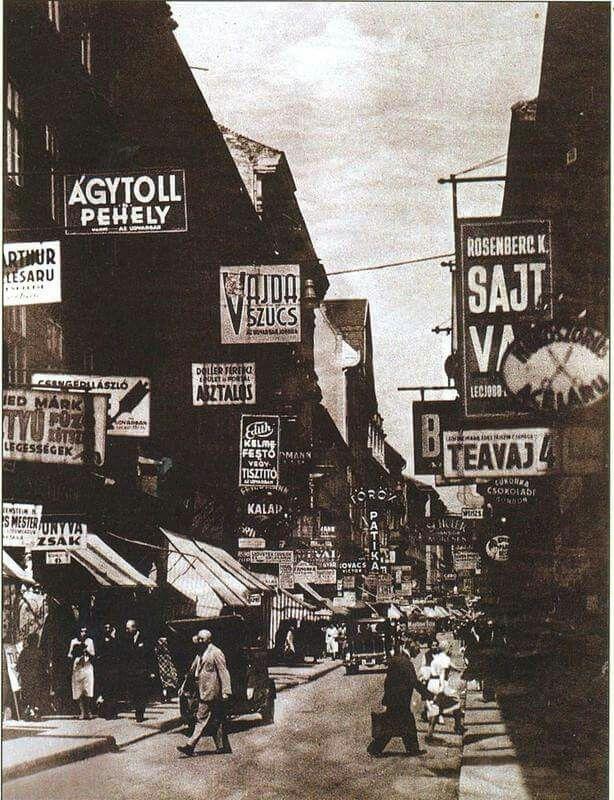 1930-as évek. Király utca.