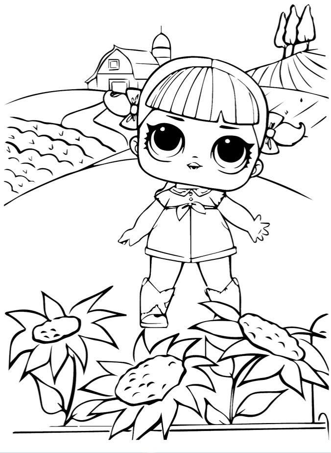 Раскраски «Куклы LOL» - «Кукла ЛОЛ Конфетти танцующая ...