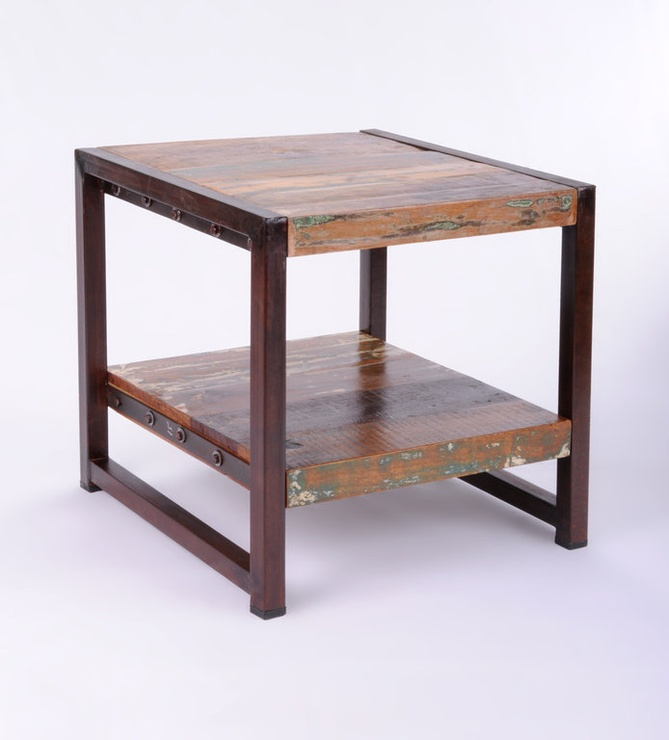 Texas Reclaimed Hardwood End Table from Oak & Ash Furniture