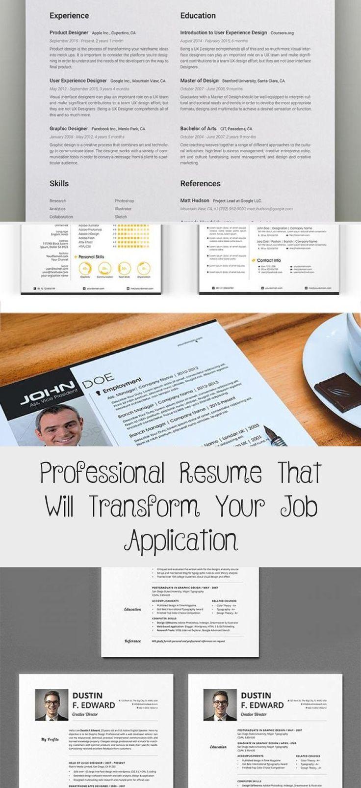 Big Set of Professional Resumes portfoliodesignYellow