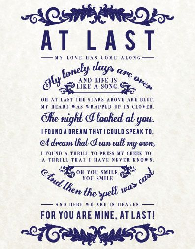 25 best ideas about at last lyrics on pinterest