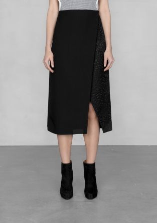 And Other Stories | Black wrap skirt  | Black