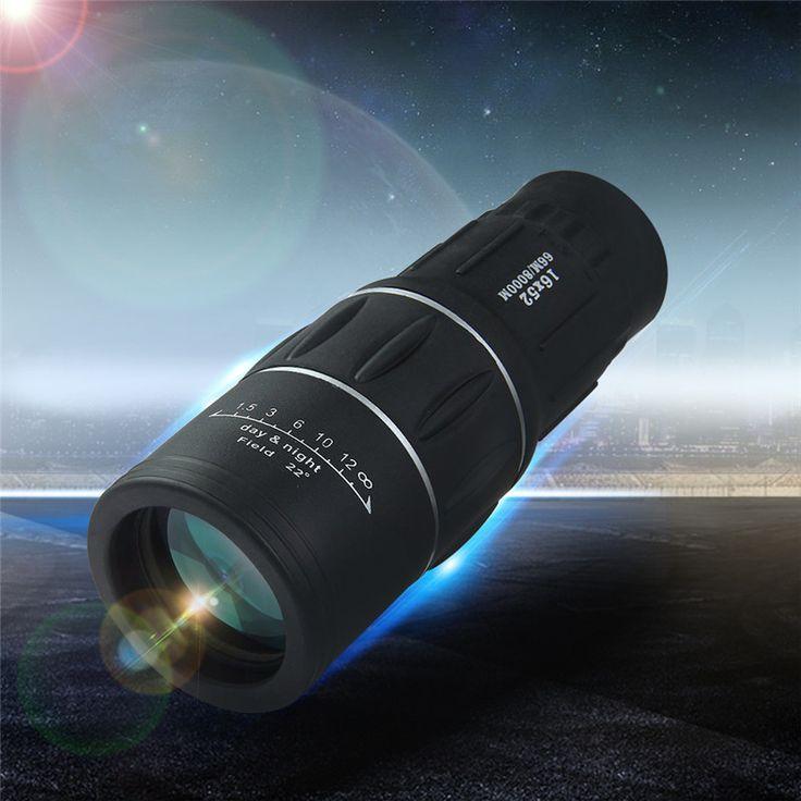 Nieuwste 16x52 Dual Focus Zoom Lens Optic Dag Nachtzicht Armoring Reizen Monoculaire Telescoop Toerisme Scope Verrekijker