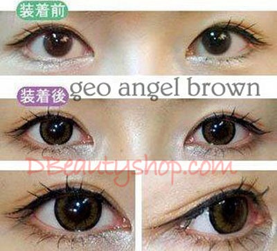 Angel Brown Color Circle Lenses, perfect match for your makeup.