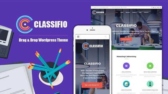 Classifio Advertising Agency Company Classifio includes theme options in the WordPress Live Customizer, enabling you to modify the design of your website in real-time. Try Classifio now and make a breakthrough in your marketing career!