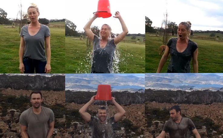 Offspring Asher Keddie, Matt Le Nevez - Ice bucket challenge...more reason to love them!!