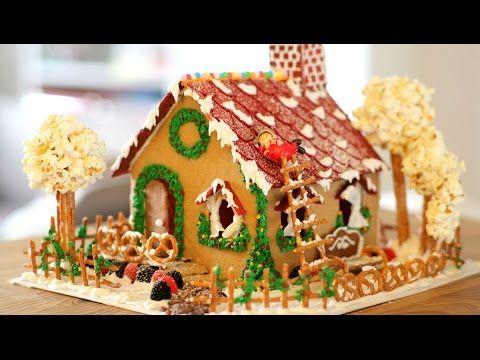 How to make GINGERBREAD HOUSE (Cookie Recipe, Icing, Decor) - Cách làm nhà bánh gừng - YouTube
