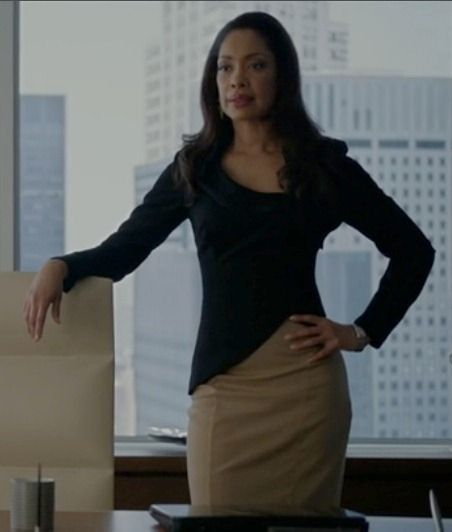 Jessica Pearson (Gina Torres) from Suits. A knock out any day, but damn I love her style in this show
