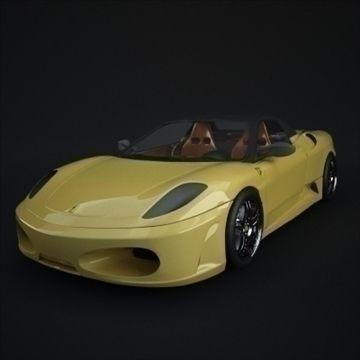 Ferrari 430 Spider 3D Model- polygon and 3d realistic model.Model based on Ferrari 360 Spider.All textures and materials.    polygon and 3d realistic model.Model based on Ferrari 360 Spider.All textures and materials. - #3D_model #Other Autos