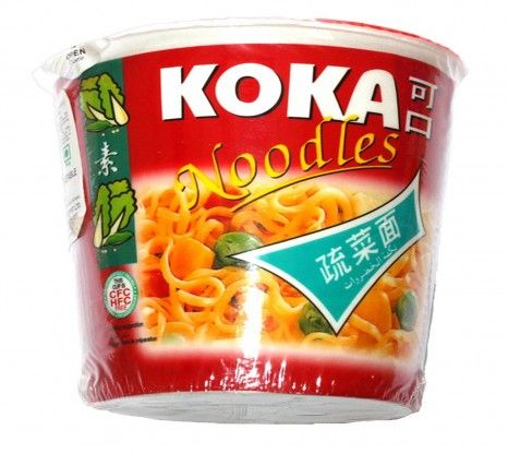 Koka Instant Vegetable Cup Noodles 70G with shipping facilities available in India.