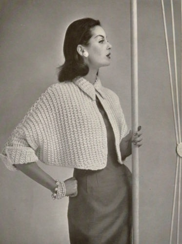 Coats & Clark Bulky Knits 1956 (that might be Anne St. Marie! Always surprising for me to see an actual supermodel in something like a knitting book.)