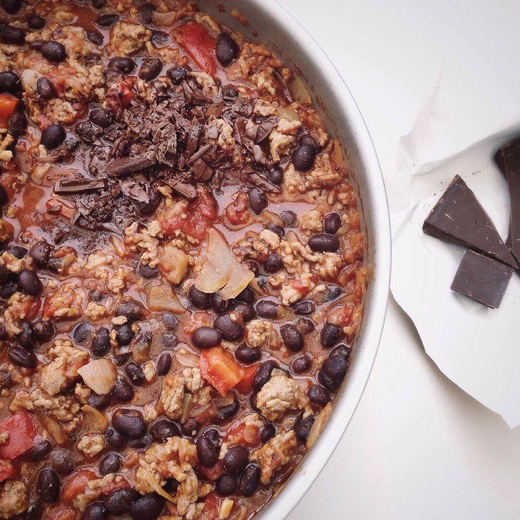 Zwarte bonen chili met chocolade van Cookingdom!