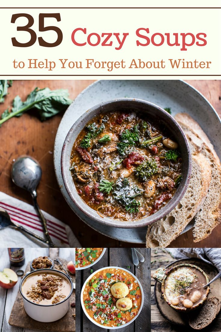 Chase away the chill outside with these 35 Cozy Soups to Help You Forget About Winter!