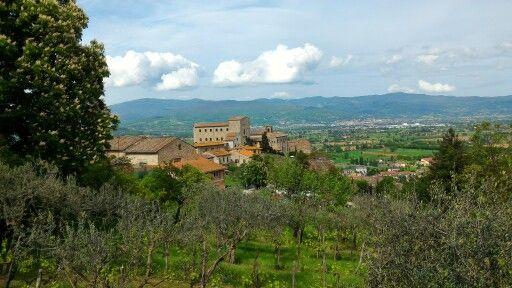 Vista sull'alta valle del Tevere