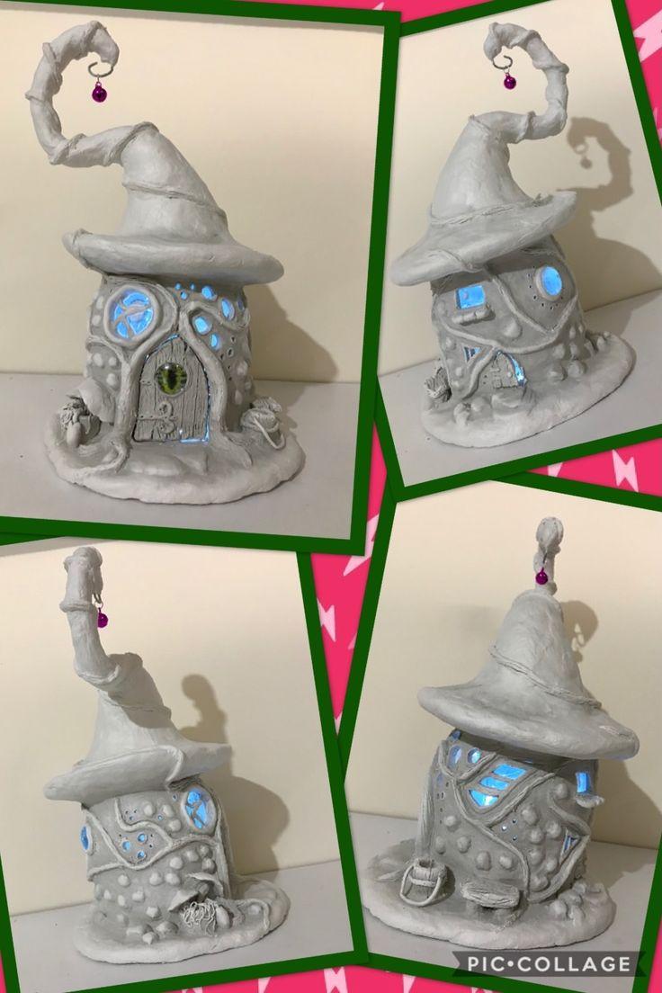 DAS paper clay & soda bottle fairy house