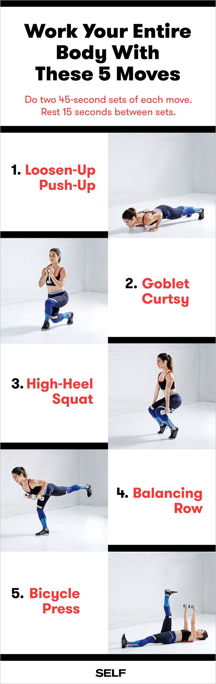 A Quick 5-Move Total-Body Workout Routine