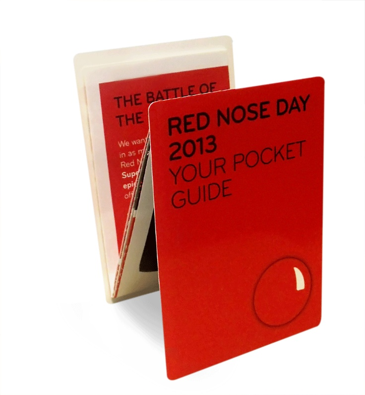 Check out this fantastic 'Pocket Guide' Z-CARD® for Red Nose Day 2013!