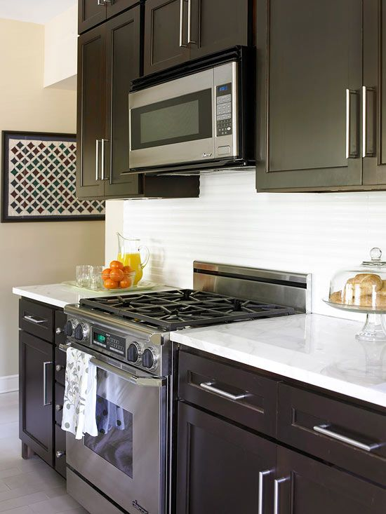 Small kitchen remodel blending old and new square feet for Small kitchen redesign
