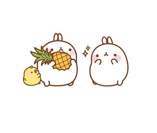 Molang with pineapple                                                                                                                                                                                 More